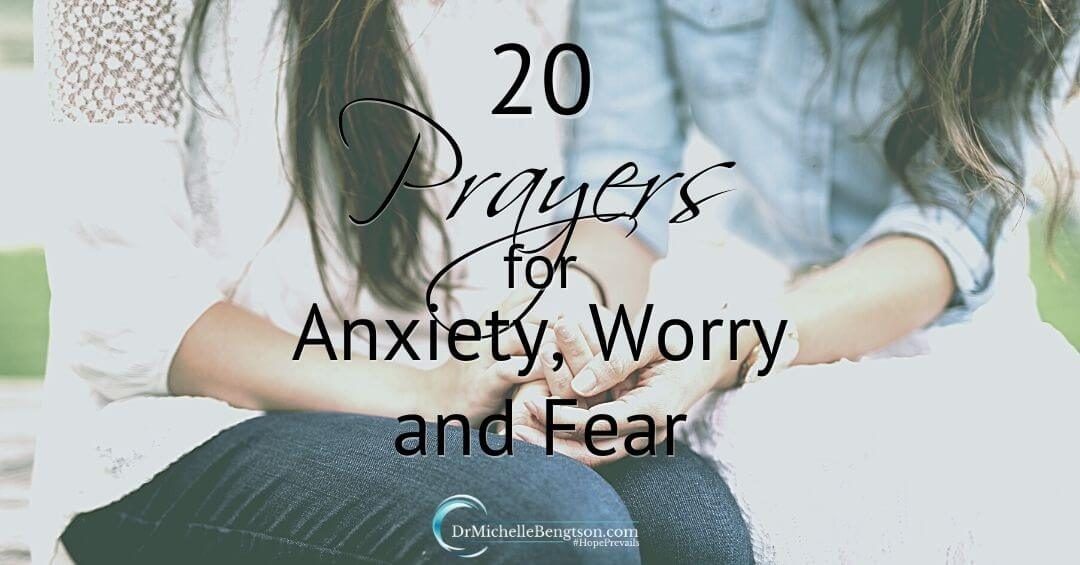 20 Prayers for Anxiety, Worry and Fear to Usher in God's Peace