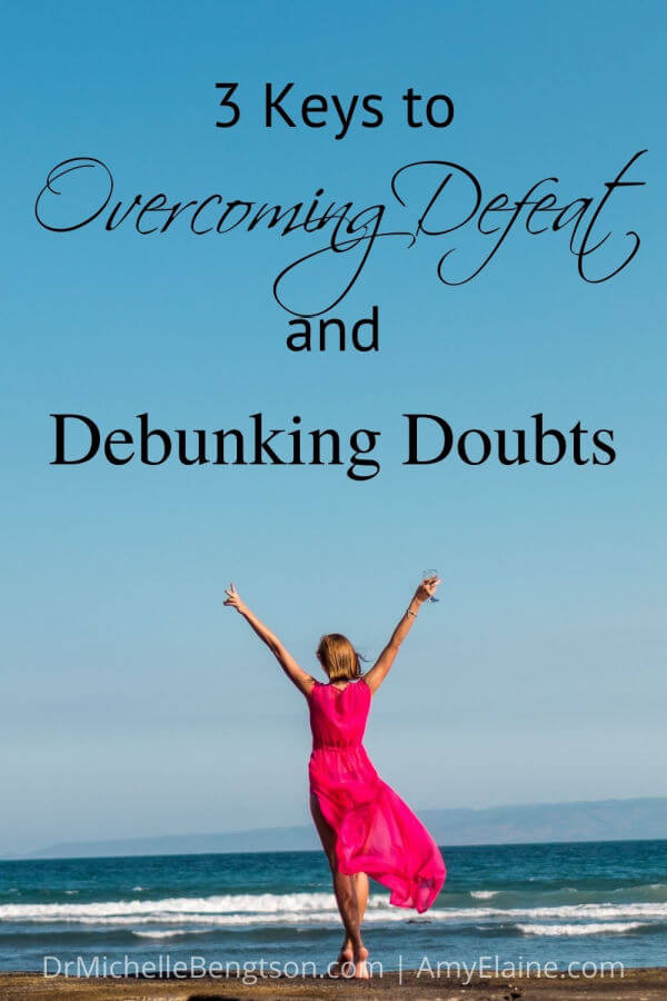 We all face challenges and difficulties. At times, we fall prey to doubt and defeat. Through painful experiences, Amy Elaine Martinez learned how to grow in confidence in spite of the challenges she faced and now helps others know that living a life of victory is possible. She shares the three keys to victory she learned that helped her overcome defeat and debunk doubts.