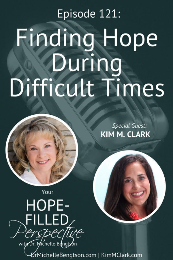 Christianity doesn't ensure a cake-walk life—Jesus told us to expect to go through many trials and sorrows. But we don't go through them alone. Kim Clark and I talk about finding hope during difficult times. We discuss the nature of trials, the reason for trials, why God allows us to experience trials, and how to best handle them. #podcast #difficulttimes #hardtimes #hope #faith