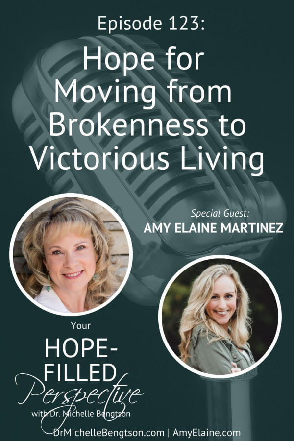 We've all made mistakes in our life, done things we regret, and gone through hardships that have hurt and scarred us in some way. In short, we've all gone through brokenness. In this episode, Amy Elaine Martinez and I talk about the hope we have for moving from brokenness to victorious living.