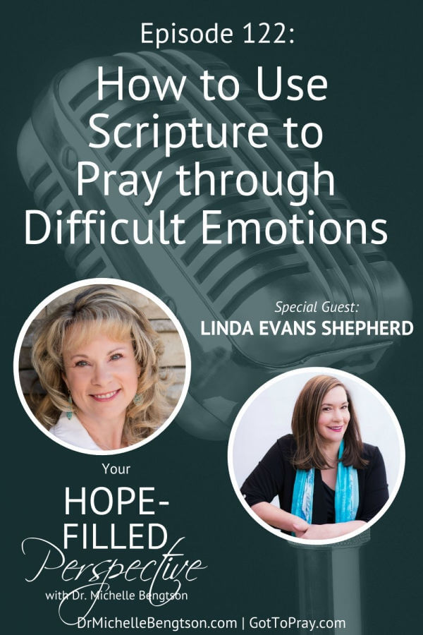 We all experience a wide range of emotions. But some emotions can be a stumbling block to our relationships, prayer life and our walk with the Lord. In this episode, Linda Evans Shepherd, and I dive a bit deeper into our emotions to share how to use Scripture to pray through difficult emotions. #prayer #emotions #hope #faith #podcast