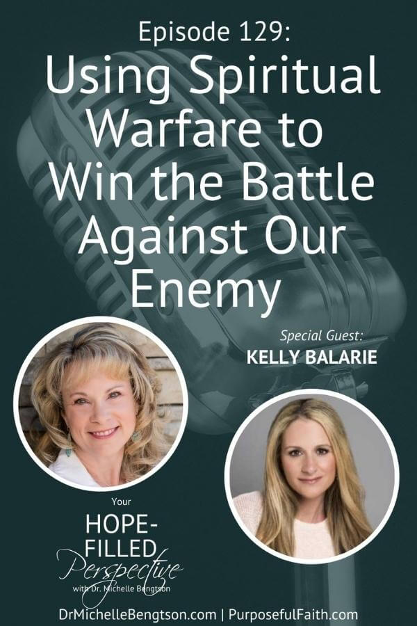 Kelly Balarie and I talk about how to train your mind to conquer challenges, defeat doubt, and live victoriously in a world where we have a very real enemy and we must always be battle ready. We use spiritual warfare to win the battle against our enemy. When we get our mind in line with Jesus, we become Battle Ready.